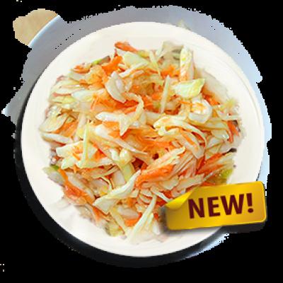 Салат витаминный с капустой и морковкой