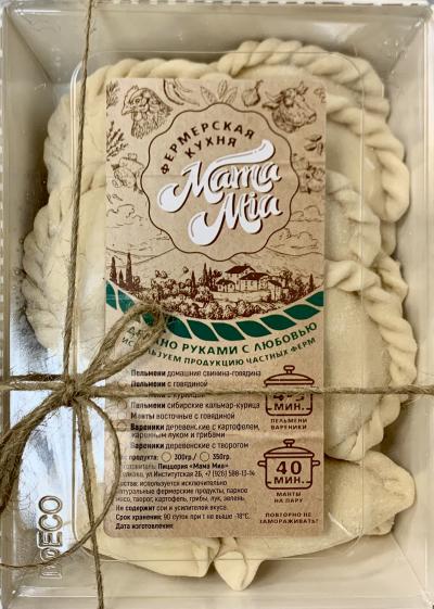 ECO Вареники с картошкой жаренным луком и гриб. зам.350 гр.