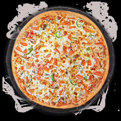 Мексиканская пицца на толстом тесте